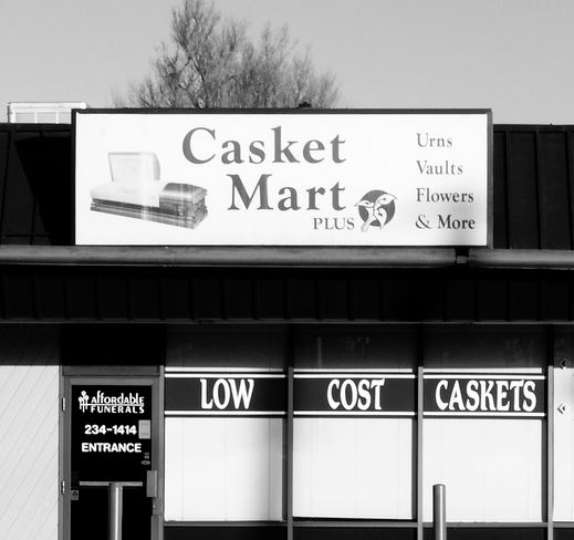 """Low Cost Caskets"" by Autowitch"