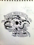 GM XXth - Tattoo Cover Sketch by Ethan Fuhrer