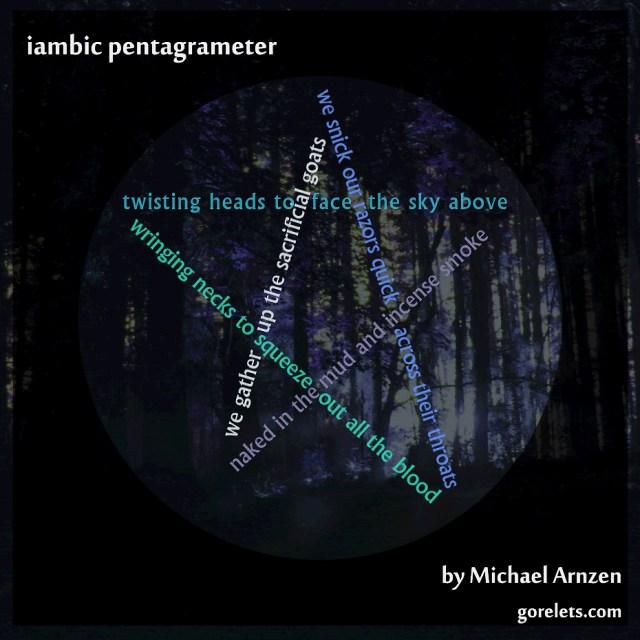 iambic pentagrameter - a visual poem