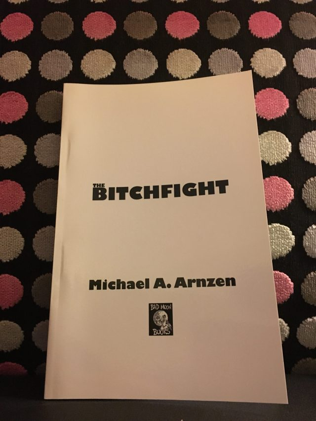 """Roy Robbins gave me these rare galleys of The Bitchfight. I held a giveaway (""""find me and tell me the code"""") on twitter -- and Stephanie Wytovich won!"""