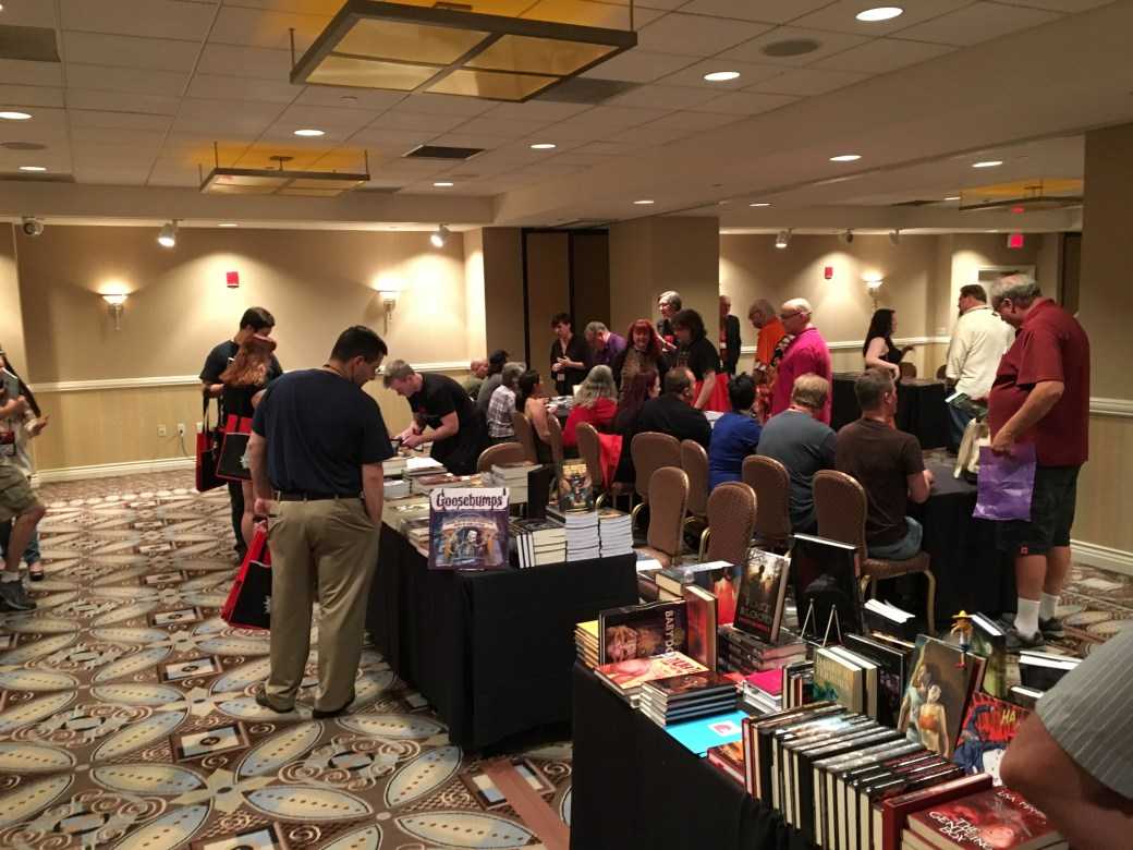 Dark Regions sponsored a signing of the Madhouse book.  It was... well you know... a Madhouse.