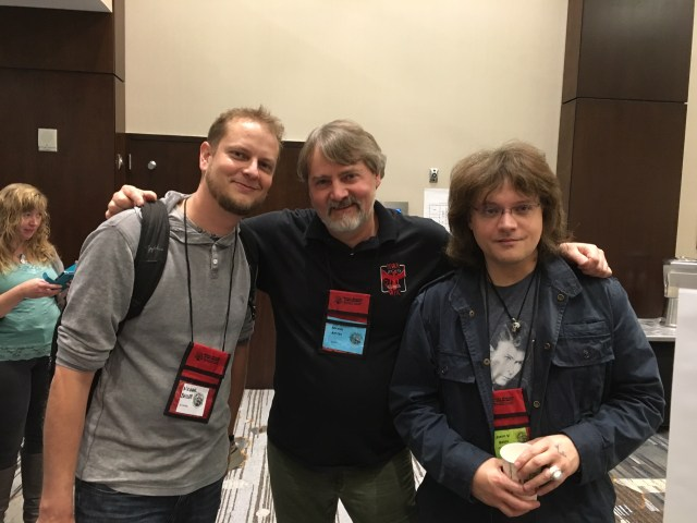 Had good conversations with these two (Michael Bailey and Jason V. Brock) throughout the con. Jason and I got into some very heady topics. Both these guys really know their horror -- do not mess with them.