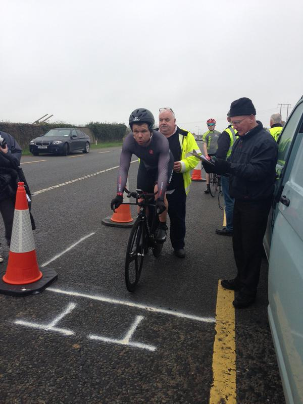 GoreyCC's Joe Christian at the start of his TT