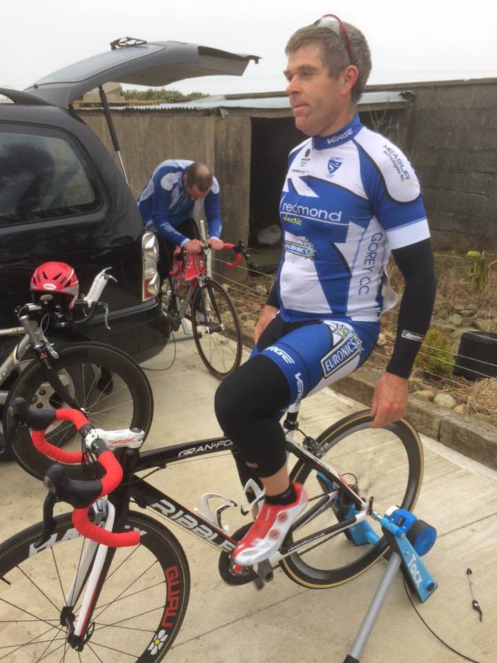 GoreyCC's John Whyte warming up for his TT
