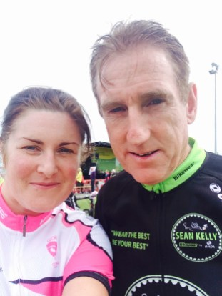 Annamarie with Sean Kelly at the 2015 Sean Kelly Tour