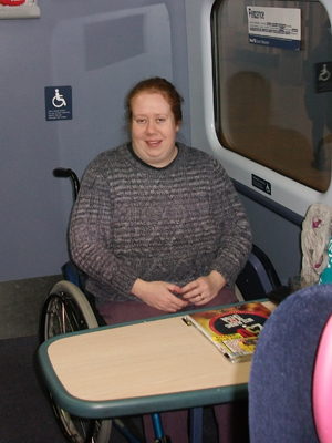 Wheelchair space on First Great Western