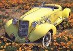 z003 1935 Auburn 851 Boattail Speedster (stitched) Yellow High fvl