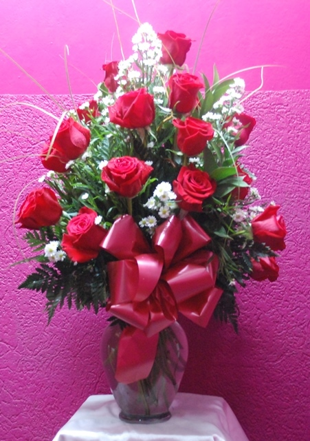 Roses arrangement gorgeous flowers jamaica