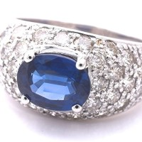 Gorgeous Vintage Sapphire And Diamond Estate Rings