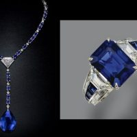 Sapphire, Tanzanite and Diamond Necklace & Ring