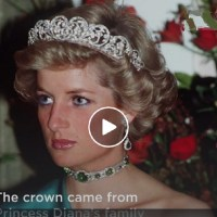Princess Diana and Queen Elizabeth In Their Royal Tiaras