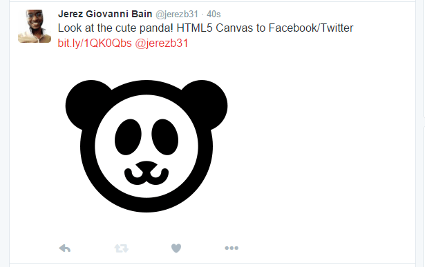Posting a HTML5 Canvas image to Facebook and Twitter