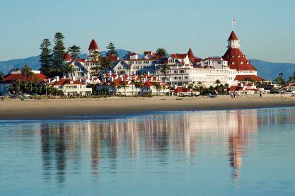 Coronado del Hotel from beach