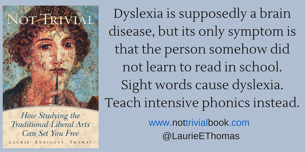 Dyslexia Is Not a Brain Disease!