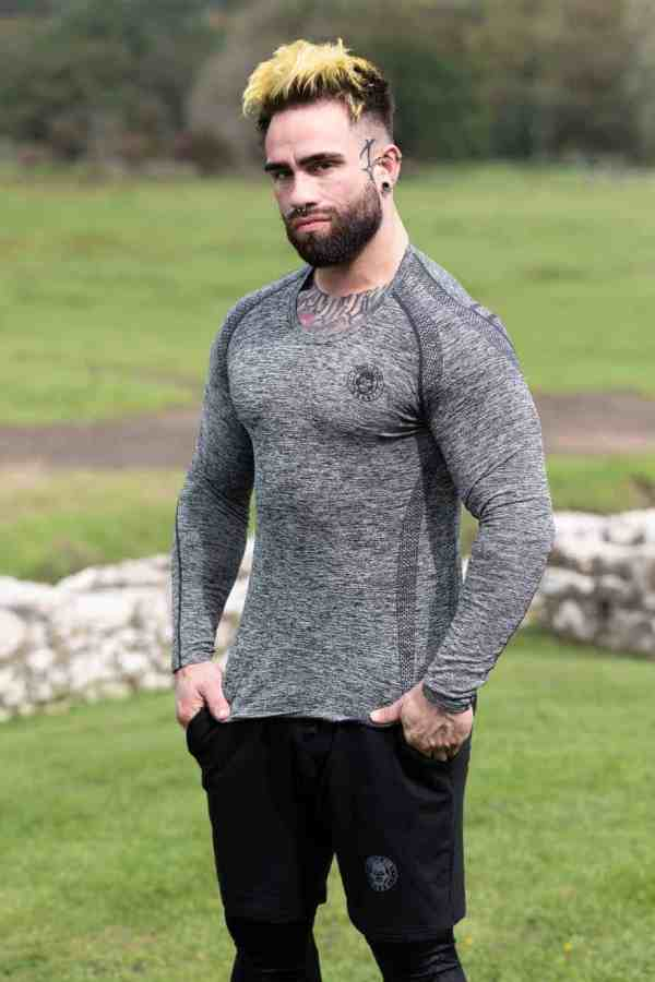 ICE DRY LONG SLEEVE STEALTH -CARBON