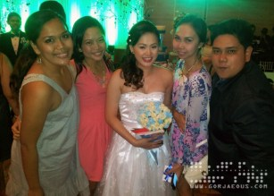 The Bride with College Friends