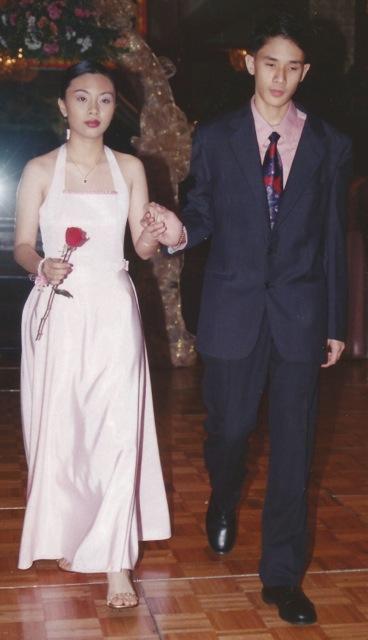 In my cottillion dress; with my dance partner, David