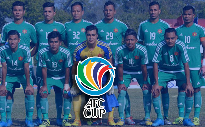 Nepal Army Football club preliminary round of the AFC Cup 2021