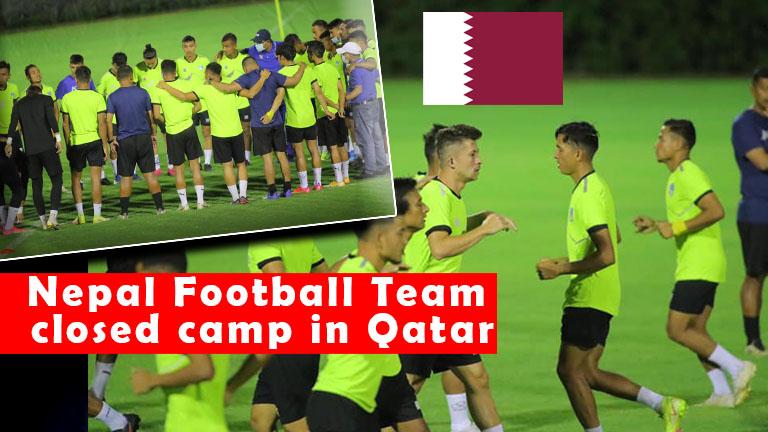 Nepal Football Team closed training camp in Qatar