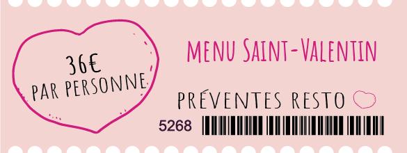 ticket saint valentin
