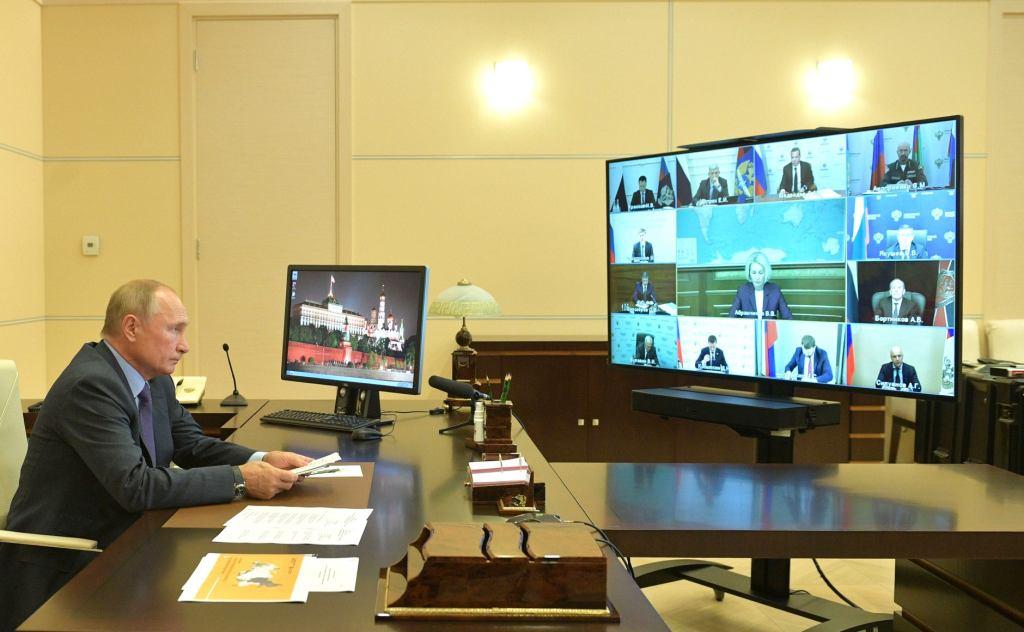 Президент Владимир Путин провёл в режиме видеоконференции совещание по вопросам развития и декриминализации лесного комплекса/Фото: kremlin.ru