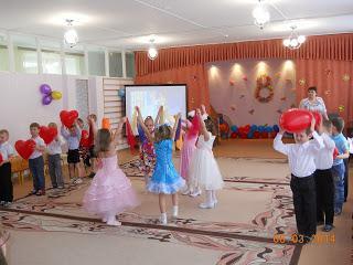 Празднование женского дня «8 Марта» в детском саде