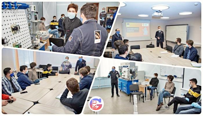 Студенты Уральского Политехнического колледжа впервые проходят практику на СинТЗ.