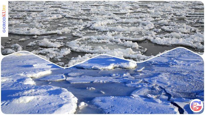 Лед на реке стремительно теряет прочность в Каменске-Уральском