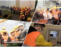 Учащиеся школ города и района посетили Учебный полигон Синарского трубного завода