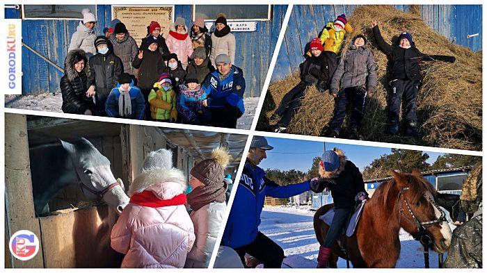 Воспитанники детского дома сходили на экскурсию в конный клуб «Старый Каменск»