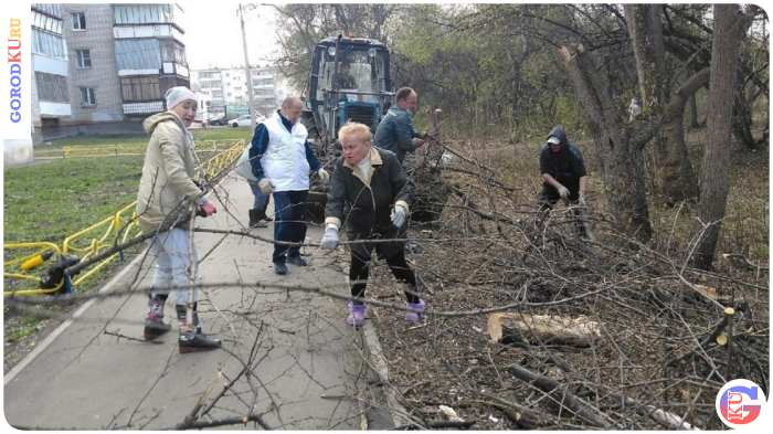 Субботник на территории Байновского сада прошел в Каменске-Уральском
