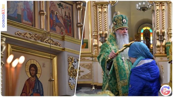 Вербное воскресенье в Свято-Троицком кафедральном соборе Каменска-Уральского