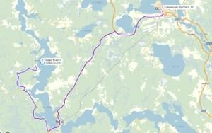 Схема проезда на озеро Вселуг
