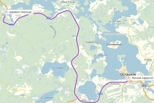 маршрут Осташков- Свапуще