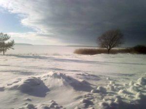 Зимний селигерский пейзаж.