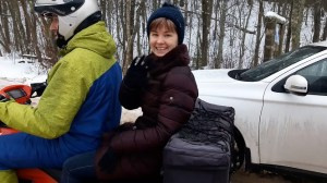 Поездка на квадроцикле по льду на Селигере