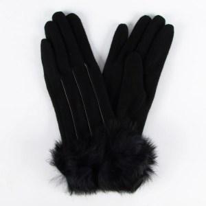 Перчатки женские цвет черный [LG63-01]