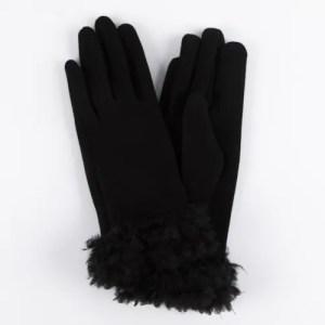 Перчатки женские цвет черный [LG04-01]