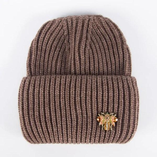 Вязаная шапка женская [WF01-12B]
