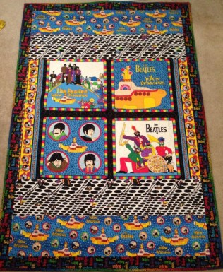 Beatles Yellow Submarine All you need is love quilt fabric VIP Cranston Village