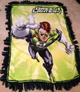 Green Lantern fleece blanket Marvel DC Etsy Superhero superheroes quilt