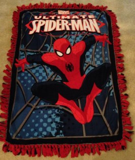 Spiderman fleece blanket Marvel DC Etsy Superhero superheroes quilt