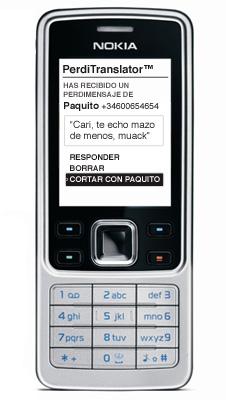 El PerdiTranslator™ en funcionamiento