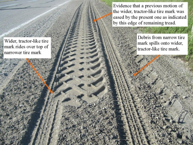 Shoulder re-grading causes tire marks to become more visible and intriguing.