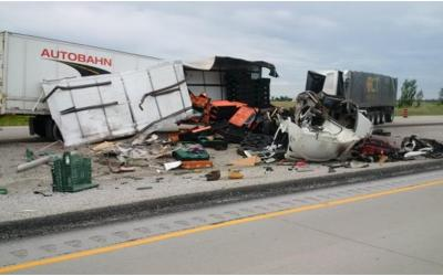 Highway 401 Median Cross-over Fatal Collision Near Chatham Ontario