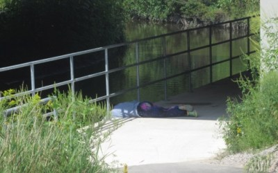 Example of Dangerous Situation at Trafalgar Bike Path in London, Ontario