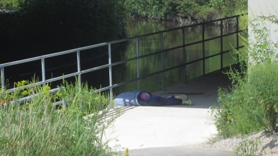 Example of Dangerous Situation at Trafalgar Bike Path in London, Ontario