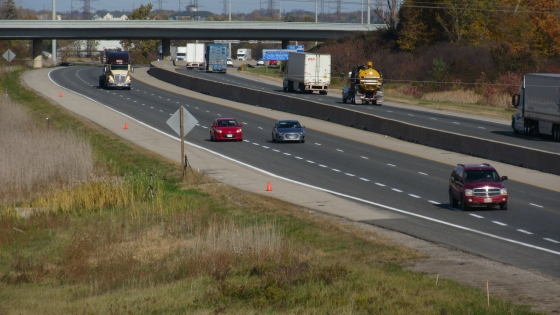 Observed Speed of Vehicles On Hwy 401 At Four Sites