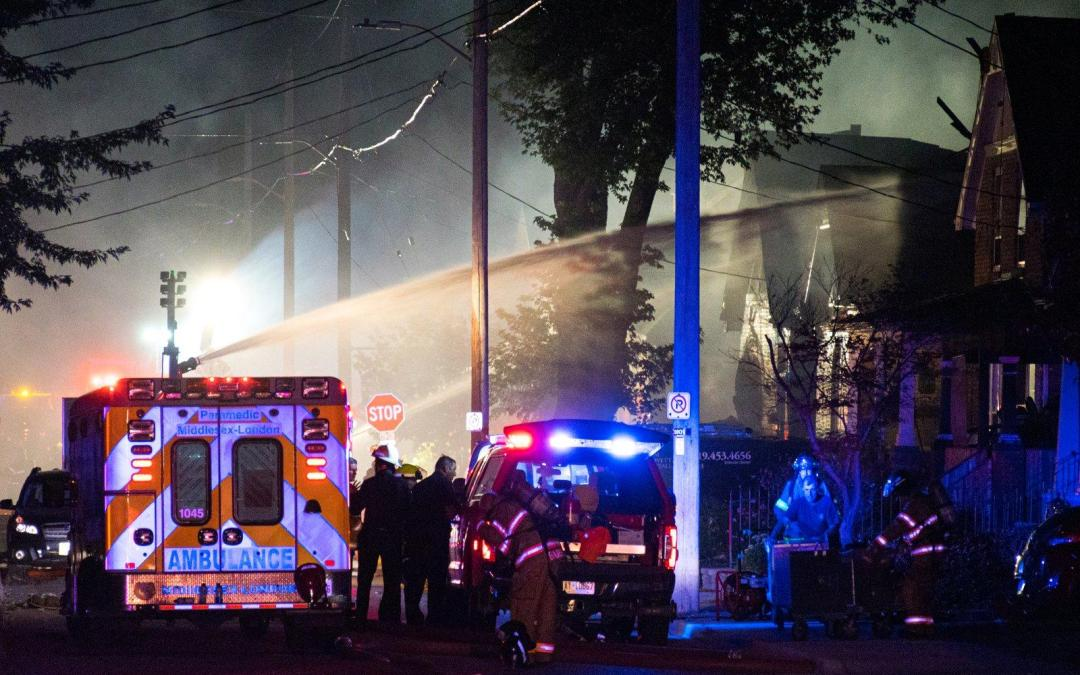 "Explosion After Vehicle ""Slams"" Into House In London Ontario"