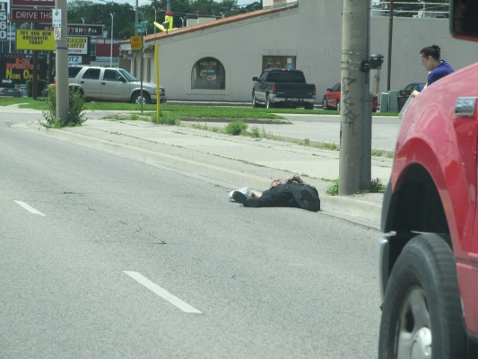Is That A Garbage Bag Lying On The Road?